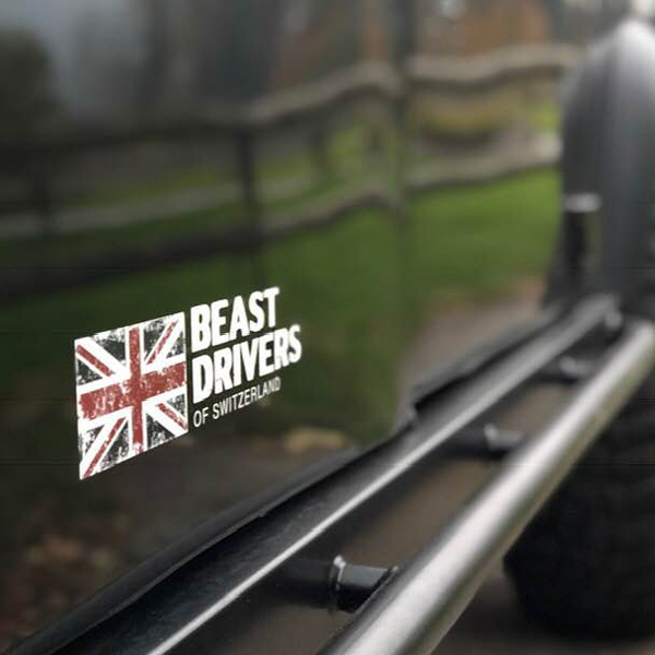 Beastdrivers of Switzerland Land Rover Club – Erscheinungsbild für eine Land Rover Legende. Idee. Logo. Konzeption. Gestaltung. Corporate Design. Webseite. Social Media. Events. Bekleidungslinie.