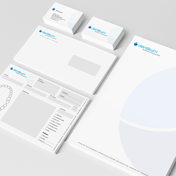 Dentikum Ästhetik für Lebensqualität – Neuerscheinung für ästhetische Dentalhygiene. Idee. Logo. Konzeption. Gestaltung. Corporate Design.