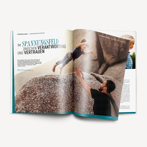 Familien SPICK – Modernes Elternmagazin auf SPICK-Basis. Idee. Konzeption. Logo. Gestaltung. Umsetzung. Corporate Design. Fachmagazin. Adaption auf diverse Kommunikationsmittel.