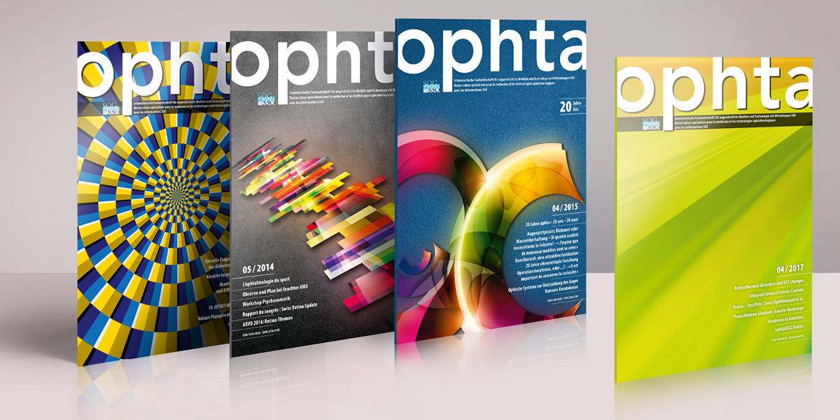U. Novotny Fachverlag Ophta – Fachzeitschrift für augenärztliche Medizin. Magazingestaltung und Umsetzung.
